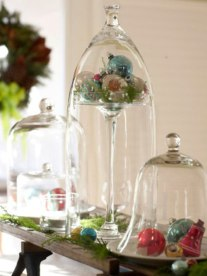 Christmas Decorating Ideas: Bell Jar Centrepieces