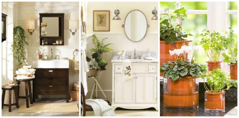 Bathroom Decor Ideas- Add Greenery