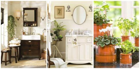Bathroom Decor Ideas- Add Greenery