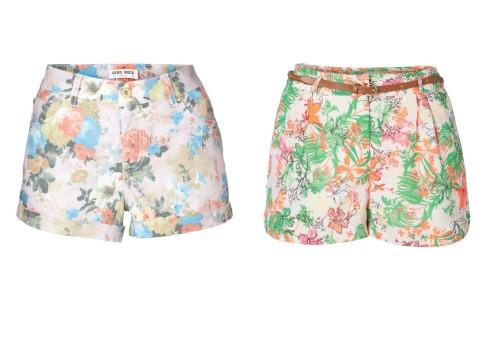VERO MODA Floral Shorts SS'13