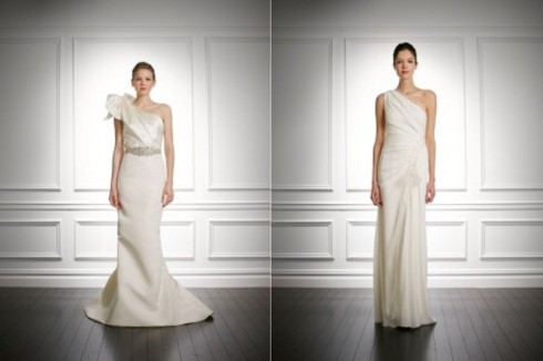 Bridal Dress Trend 2013- Asymmetrical Necklines