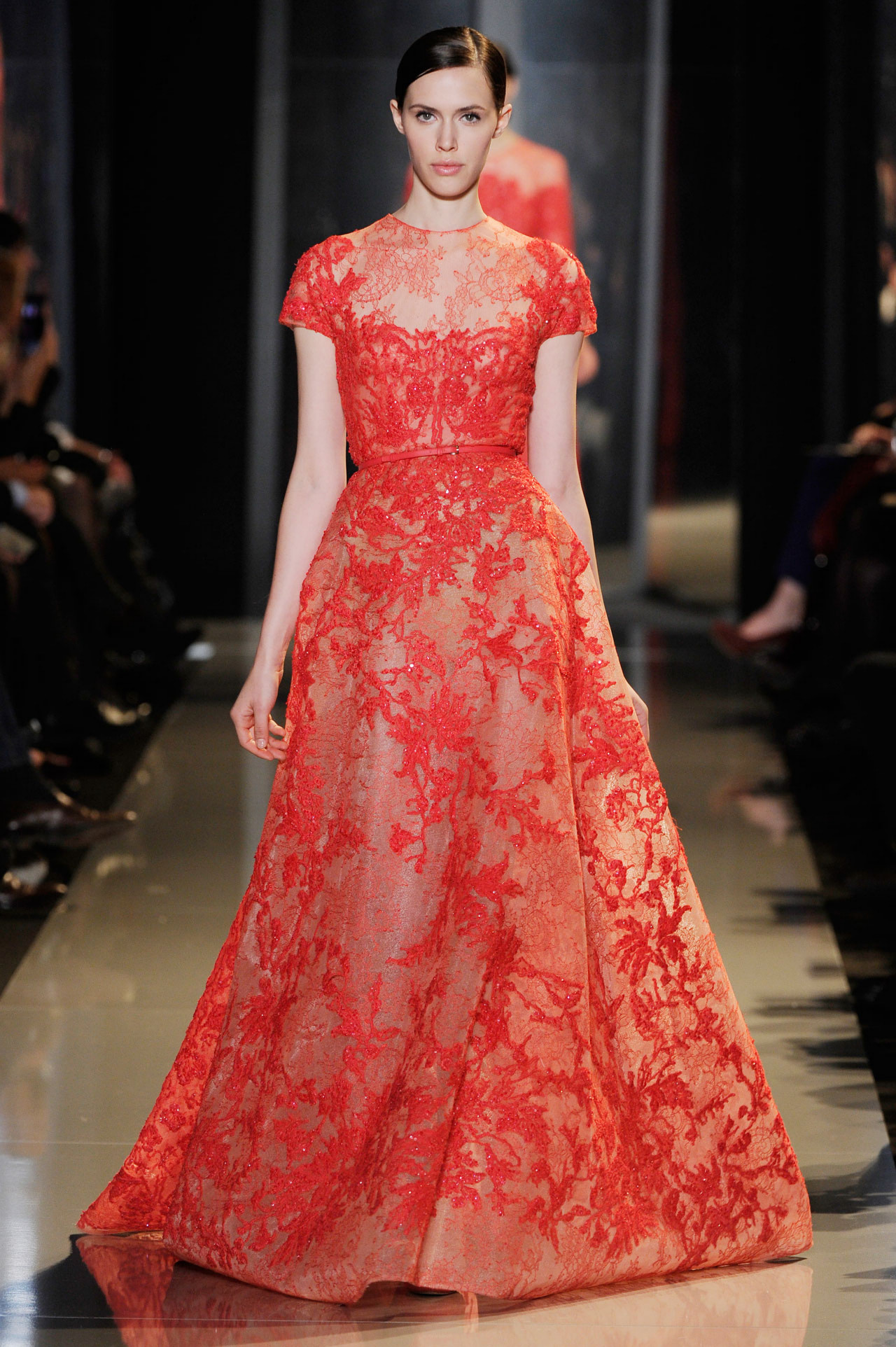 Bridal dress trend 2013 color me red colored wedding for Wedding dress red colour