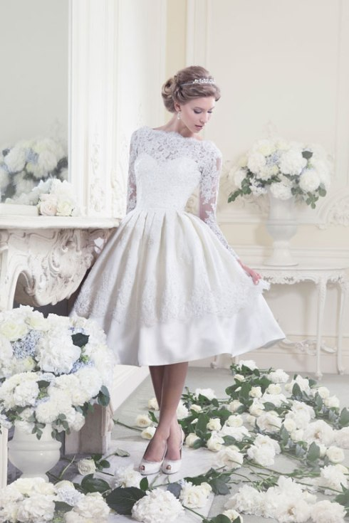 Bridal Dress Trend  2013- Short Hemlines