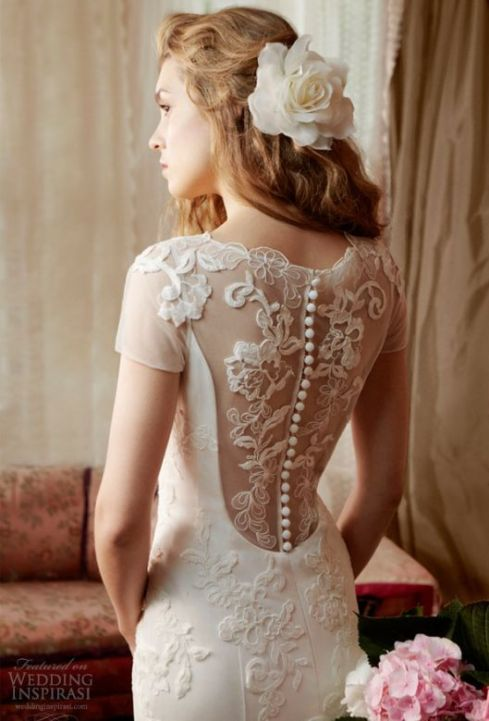 Bridal Dress Trend 2013- Beautiful Sheer & Keyhole Backs