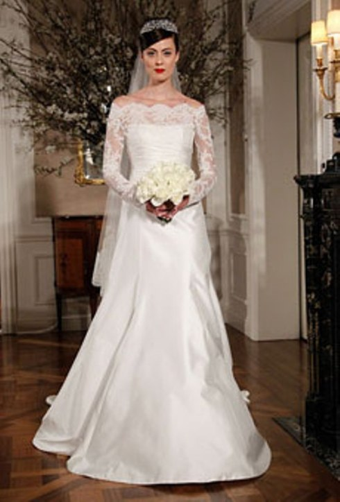Bridal Dress Trend 2013-Bold Shoulders