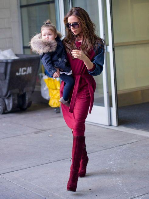 Harper Seven & Victoria Beckham Reach New York