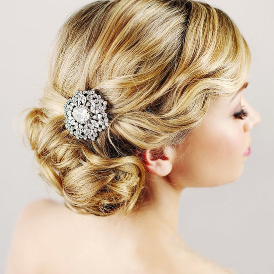 Latest Bridal Hair- Chignon With a Brooch