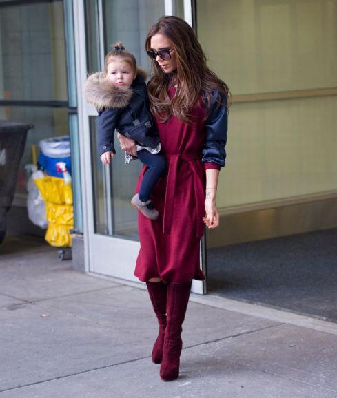 Baby Beckham Recahes New York With Mum Victoria Beckham