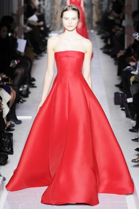 Wedding Dress Trend  2013- Color Me Red