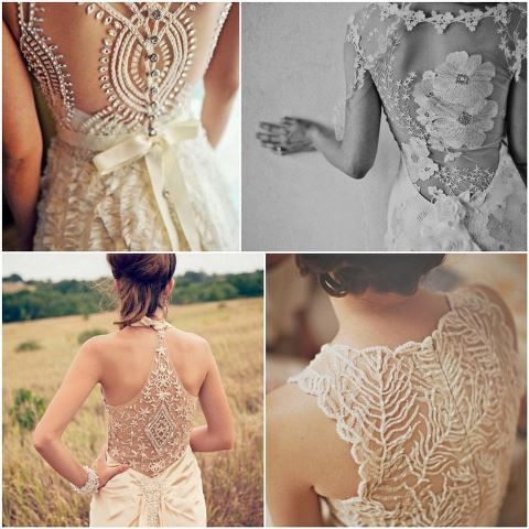 Vintage Wedding Dress With Lace