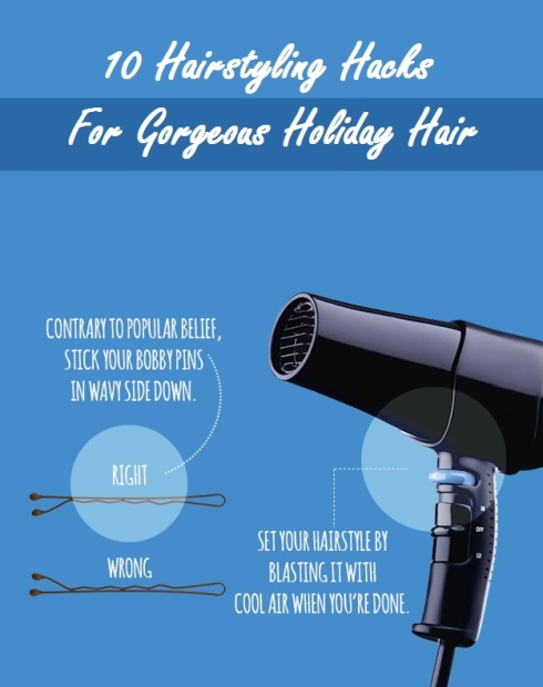 HairStyling Hack For Holiday Hair