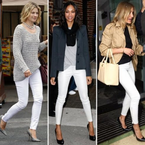 Celebs in White Jeans