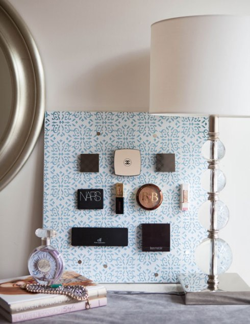 A Magnetic Wall To Stick Your Beauty products