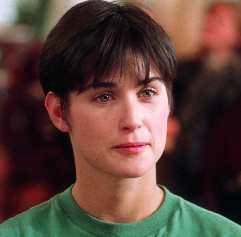 Demi Moore's  Short Boyish Cut