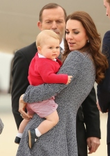 Kate Middleton With Not-So-Happy Prince George