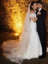 Katie Holmes Armani Gown