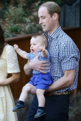 Prince George With Daddy Prince Williams