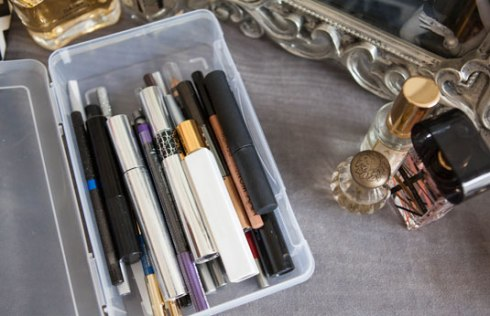 Use a Pencil Box To Keep Your bruhses, liners or mascara
