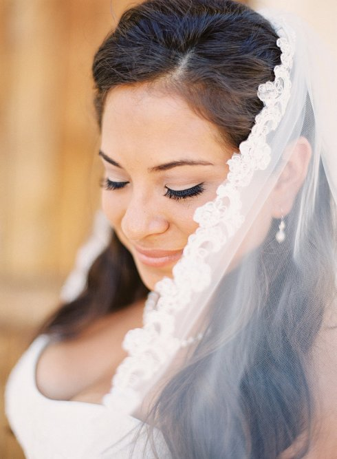 Wedding Photos- Peeking Out From Behind Veil