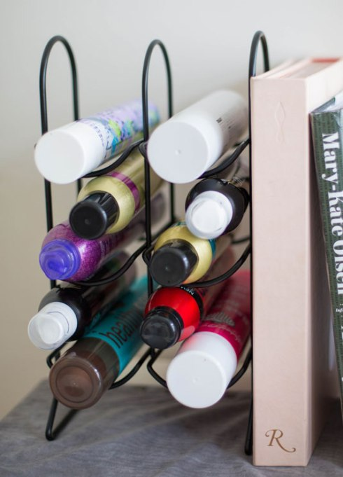 Wine Rack For Hair Spray Bottles Storage
